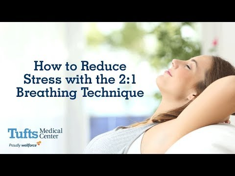 How to reduce stress with the 2:1 breathing technique