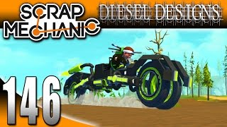 Scrap Mechanic Gameplay :EP146: TRON MOTORCYCLE!  MJM Mod Showcase! (HD Modded)