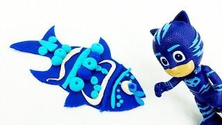 Лепим рыбу из ПлейДо для Кэтбоя. Поделки из пластилина