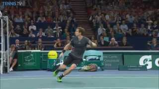 Andy Murray Strikes Hot Shot Against Novak Djokovic In Paris