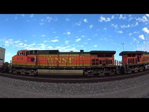 Surfliner Meet BNSF intermodal with Very loud Dash 9 DPU