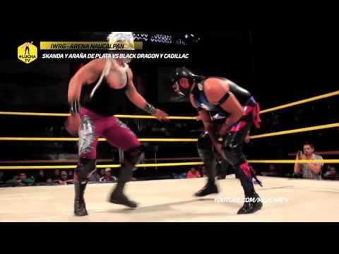 Skanda y Araña de Plata vs Black Dragon y Cadillac, IWRG Arena Naucalpan