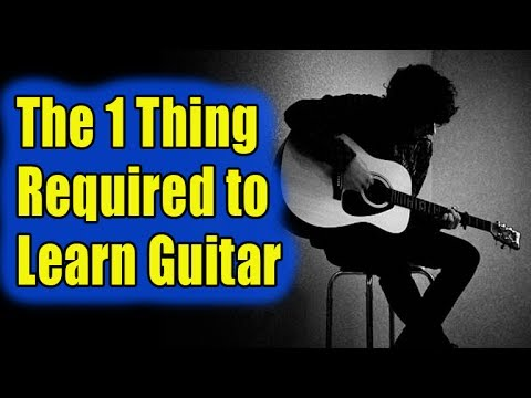 The 1 Thing Required to Learn Guitar [GETTING RARE]
