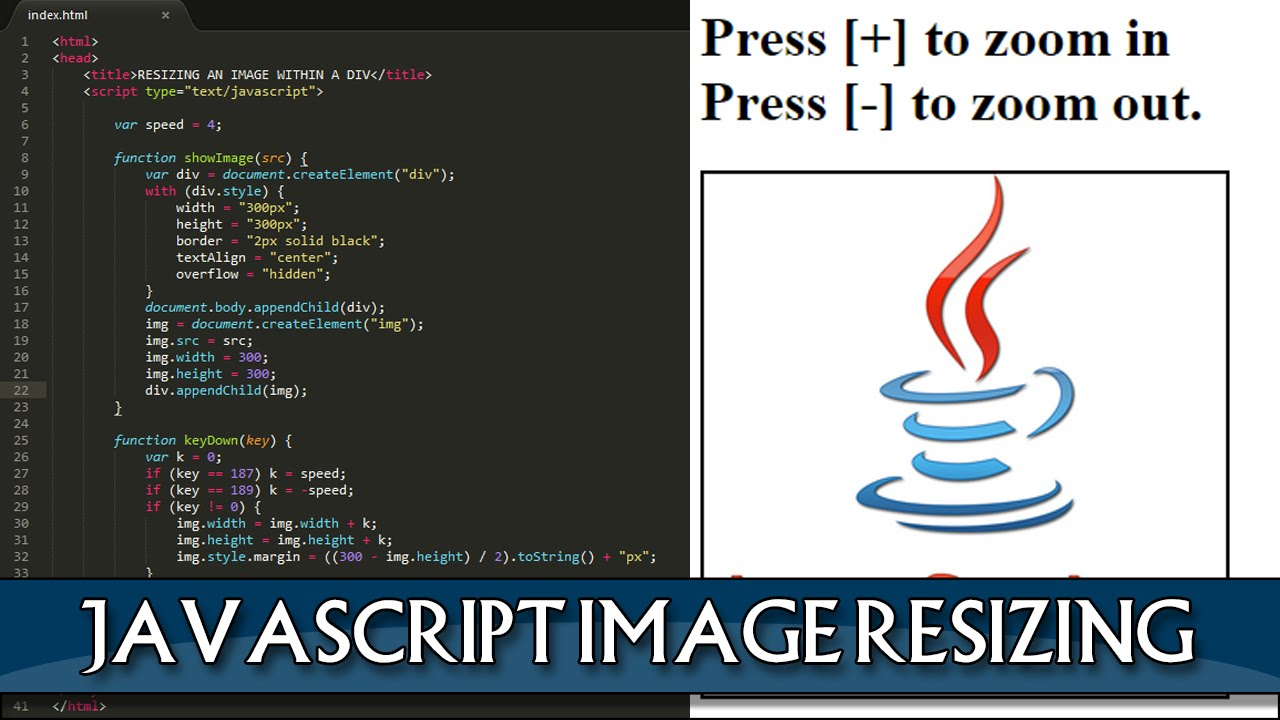 JAVASCRIPT Image zooming within a div