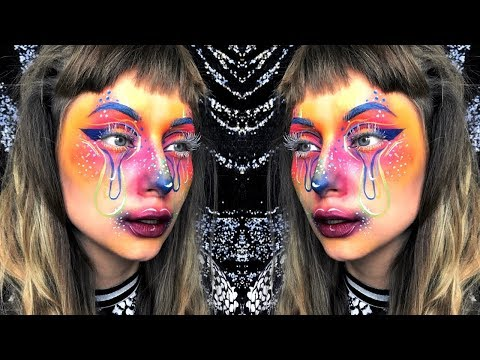Sad Colourful Clown Halloween Makeup Tutorial thumbnail