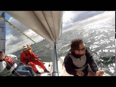 Vallensbæk Sejlklub Sejlsportsliga træning 4. maj 2014, båd 1