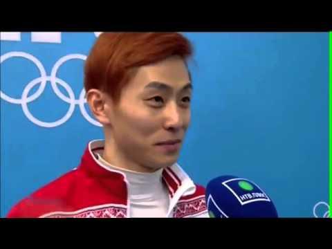 Первое интервью после победы Олимпийского чемпиона Виктора Ана в Сочи 2014