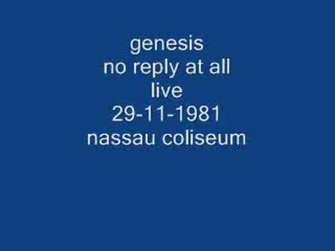 genesis- no reply at all (live)