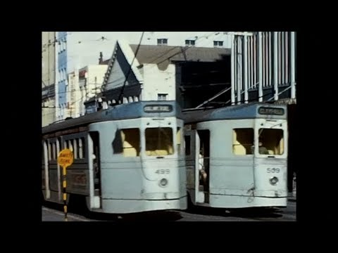 Brisbane Trams 1965 to 1969. Silent Movie. Digital Remake.