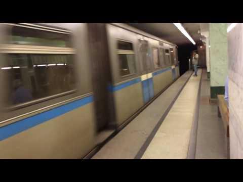 Метропоезд 81-740 на станции Бульвар Дмитрия Донского