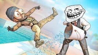 ТРОЛЛЬ vs МОКРЫЙ ПОЛ И МАНЬЯК В CS:GO!!!