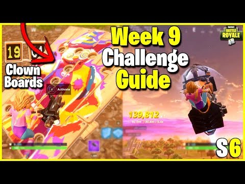 All Carnival Clown Board Locations + 30s Airtime | S6 Week 9 Challenge Guide - Fortnite
