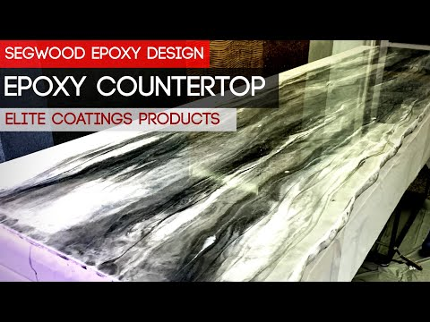 DIY Epoxy countertop - marble effect - 50% mica silver, 30% silver, 20% luster black