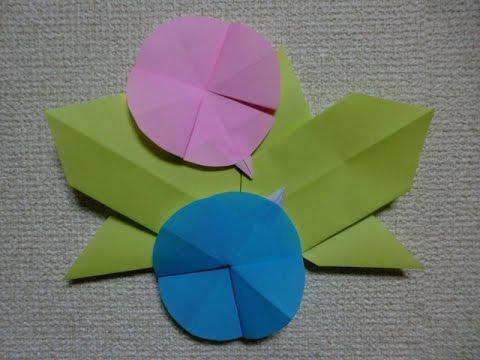 簡単 折り紙 折り紙 朝顔の折り方 : youtube.com