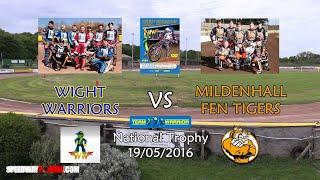 Isle of Wight 'Wightlink Warriors' vs Mildenhall 'Fen Tigers' : National Trophy : 19/05/2016