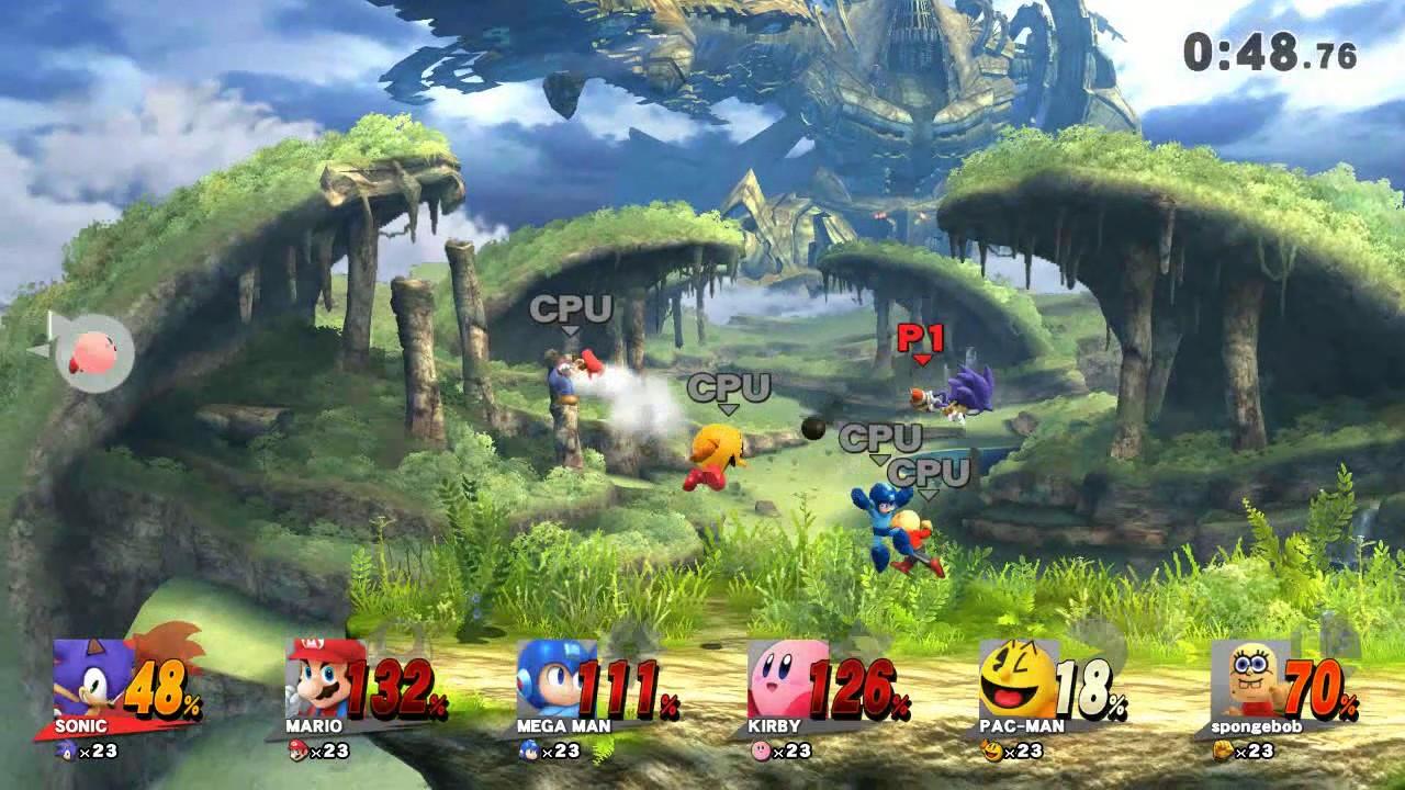 Mario Vs Sonic Vs Megaman Vs Pacman Mario vs fire s...