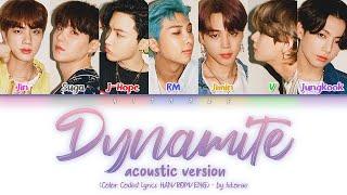 Download BTS - Dynamite (Acoustic Remix) Color Coded Lyrics