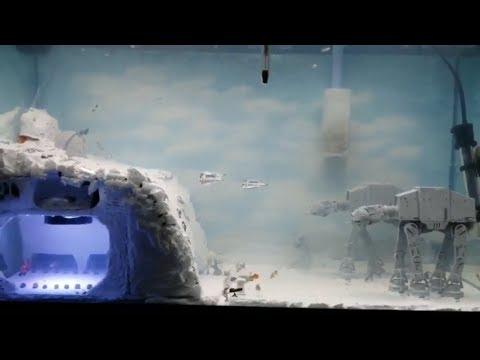 Star Wars The Battle Of Hoth Diorama Fish Tank