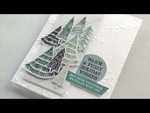 Holiday Card Series 2018 - Day 6 - Forest of Paper Trees