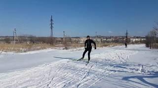 Коньковый ход на лыжах ,тренировка Коньковым  ходом