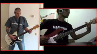 RAMONES - We Want The Airwaves (guitar & bass collab)