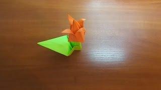 Оригами Тюльпан. Цветы из бумаги(Все для рукоделия - https://goo.gl/ame4KN Детские товары - https://goo.gl/xn3E2x Оригами для детей и начинающих. В этом видео..., 2015-02-13T13:56:18.000Z)