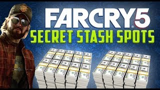 FARCRY 5 - SECRET STASH SPOTS! (PERK POINTS, MONEY & VEHICLE UNLOCKS)