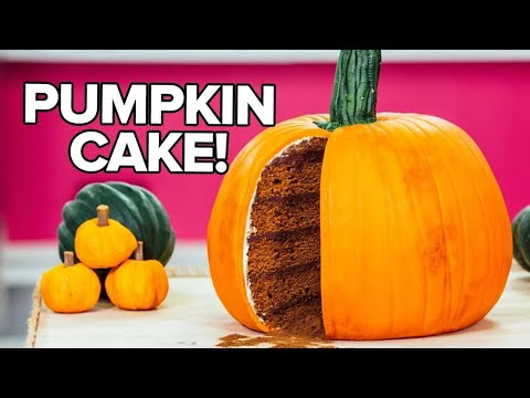 ... CAKE! PUMPKIN SPICE Cake With Dark Chocolate GANACHE And Buttercream