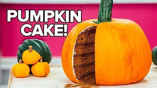 How To Make A PUMPKIN CAKE! PUMPKIN SPICE Cak...