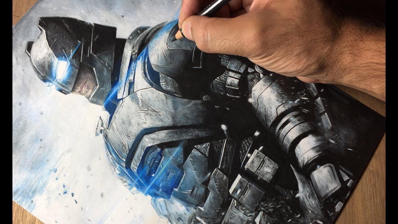 Drawing Batman - DC - Timelapse | Artology