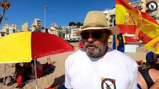#Sombrillas #Españolas en la #Playa Sa #Palomera #Blanes