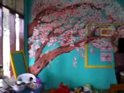 "classroom mural art by:james ""opema"" taylor and albert ""abeth""tonga"
