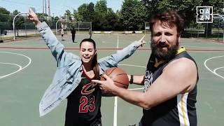 Lena und Paul Ripke vor Game 3 der NBA Finals 2018   DAZN - Unterwegs