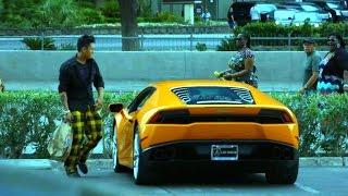 Homeless Man Gets A Lamborghini Huracan Prank!! (Poor vs Rich)