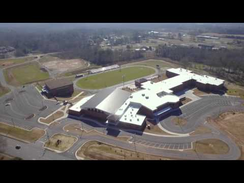 Aerial of Chattooga High School Campus