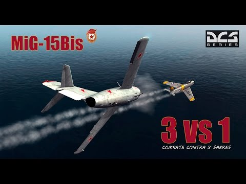 DCS World MiG15 -  Intense Online Dogfight Vs 3 Sabres (PvP)