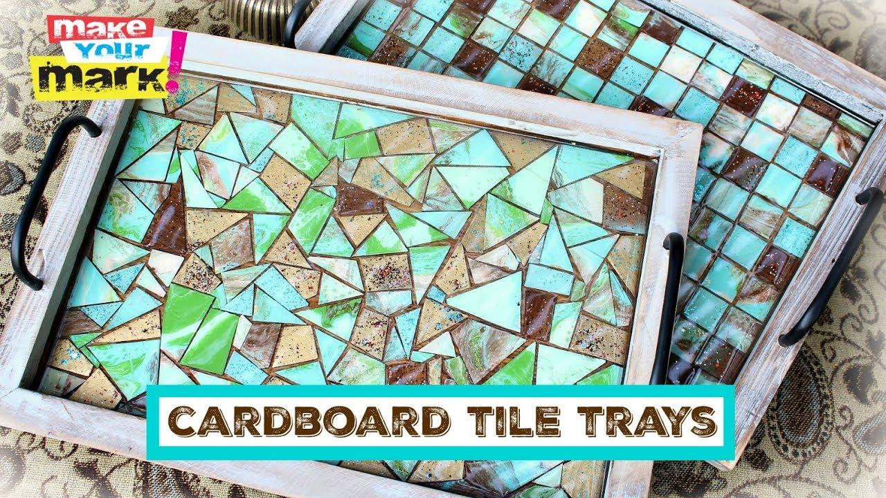 Cardboard Tile Mosaic Trays Diy You