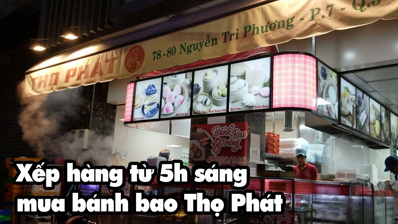 Xếp hàng từ 5h sáng mua bánh bao Thọ Phát ngon và rẻ nhất Sài Gòn ngày nay