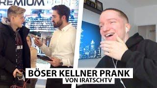 Justin reagiert auf Kellner Prank von IratschTV.. | Reaktion