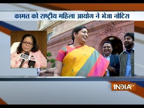 Smriti Irani Row: Congress Gurudas Kamat Gets Notice for Offensive Comments - India TV