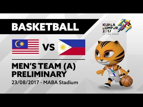 KL2017 29th SEA Games | Men's Basketball - MAS 🇲🇾 vs PHI 🇵🇭 | 23/08/2017