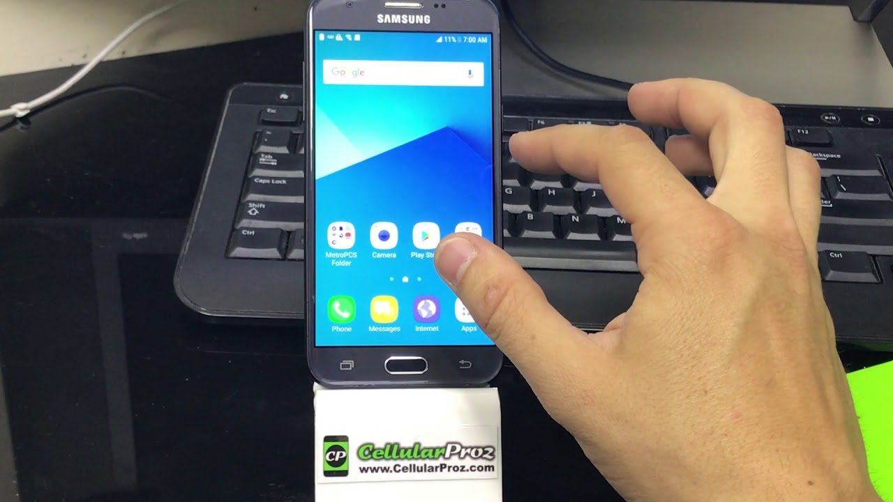 How To Install Sd And Sim Card Into Samsung Galaxy J3 Prime Youtube