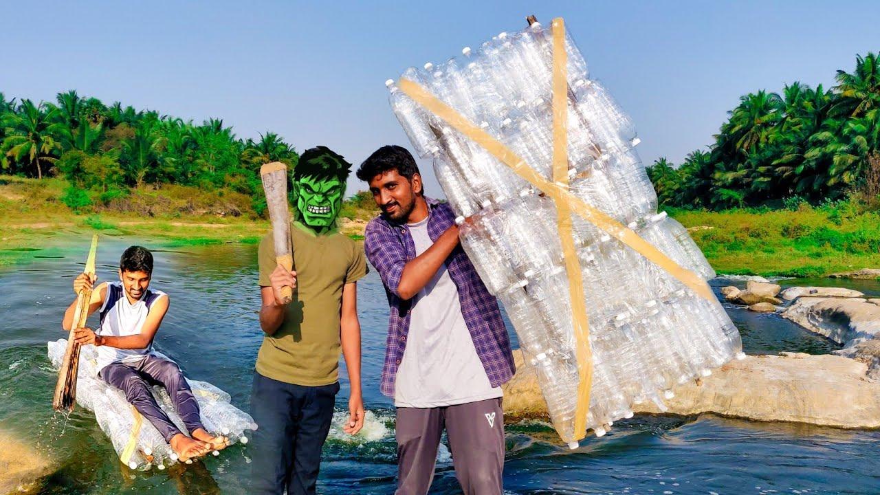 தாறுமாறு   Boat   Waterbottle vera level Fun   cool   Amazing water boat making