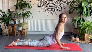 Yogapass - Vinyasa fortsättning - bakåtböjningar med mjuk övergång från Kobran