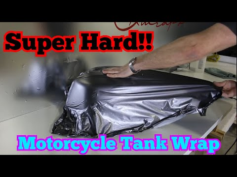IMPOSSIBLE One Piece Motorcycle Gas Tank Vinyl Wrap in Brushed Metal | For Charity