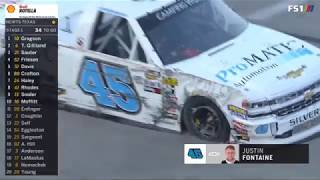 NASCAR Camping World Truck Series 2018. Texas Motor Speedway. Justin Fontaine Crash