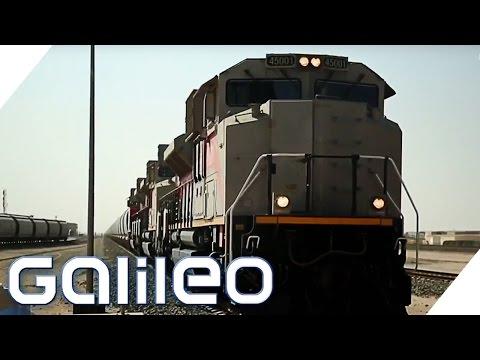 Lokführer in der Wüste von Abu Dhabi | Galileo | ProSieben