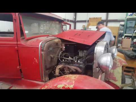 1931 Ford Model A. First start since 1965!