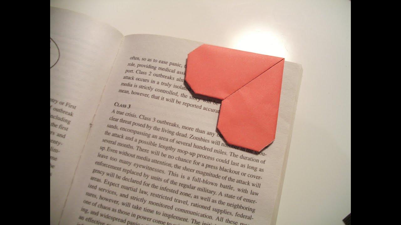 Valentine's Origami Bookmark (Heart) - YouTube - photo#35