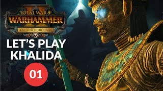 Total War: Warhammer 2 (Vortex) - TOMB QUEEN - Tomb Kings (Khalida) Lets Play 01